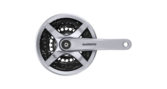 Shimano FC-TY501 Kurbelgarnitur 6/7/8-fach 48-38-28 Z. mit Kettenschutzring Silber